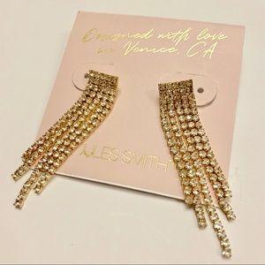 Jules Smith Harlow Crystal Drop Earrings NWT